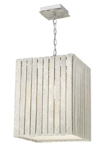 Dar Whistler 1 Light Pendant Large Distressed Silver WHI8632 (Hand made, 7-10 day Delivery)
